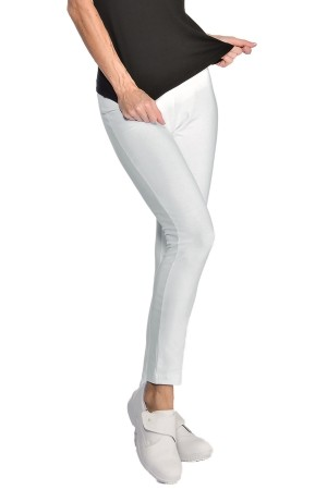 Pantalone Leggings Bianco Donna Estetista Benessere Beauty Center